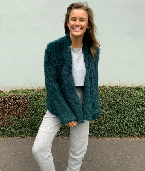 every day fur jacket green