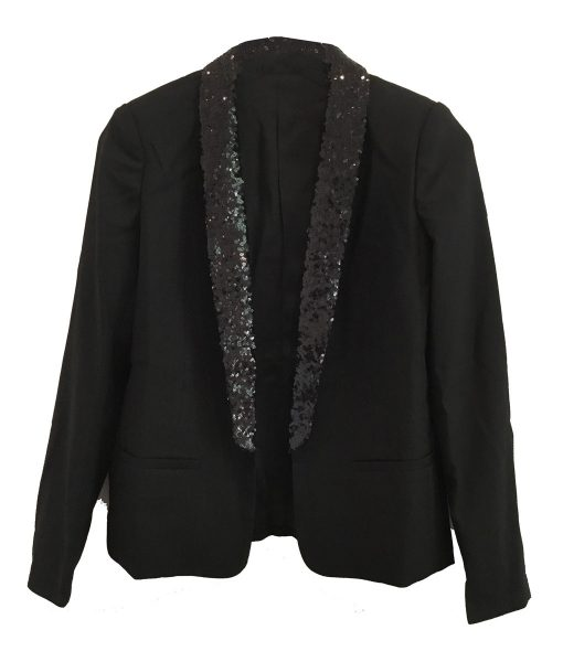 Tuxedo Sequin Jacket