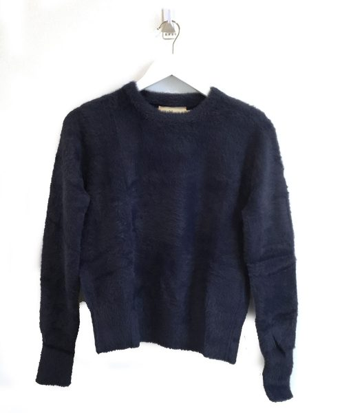 Fluffy Crew Neck Sweater
