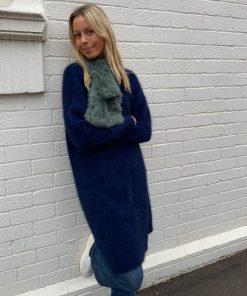 Angora Cardigan Blue