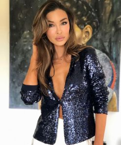 Sequin Jacket Navy