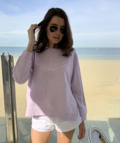Diamante Sweatshirt Lilac