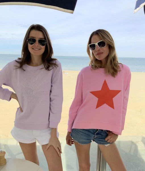 Diamante Sweatshirt Lilac