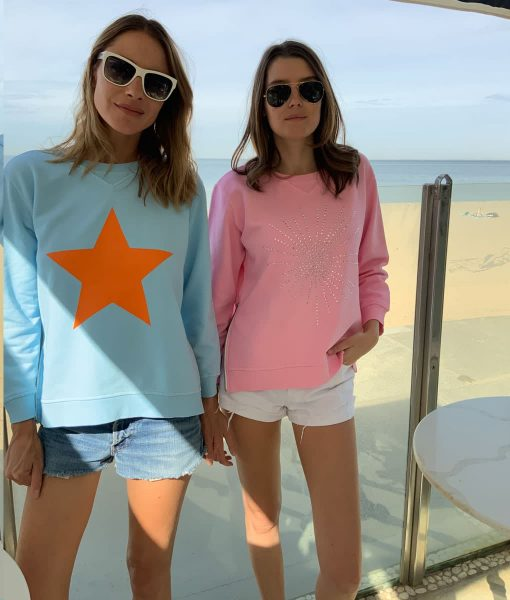 Diamante Sweatshirt Pink