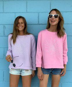 Diamante Sweatshirt Pink