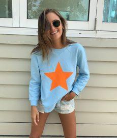 Zip sweatshirt baby blue