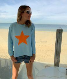 star sweatshirt baby blue