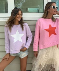 Lilac & White Star Sweatshirt