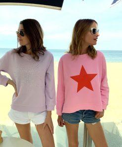 Pink Red Star Sweatshirt