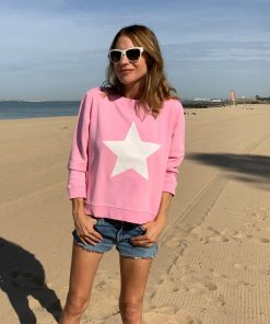 zip sweatshirt lolly pink