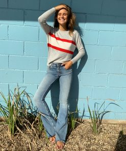 Sporty stripe sweater