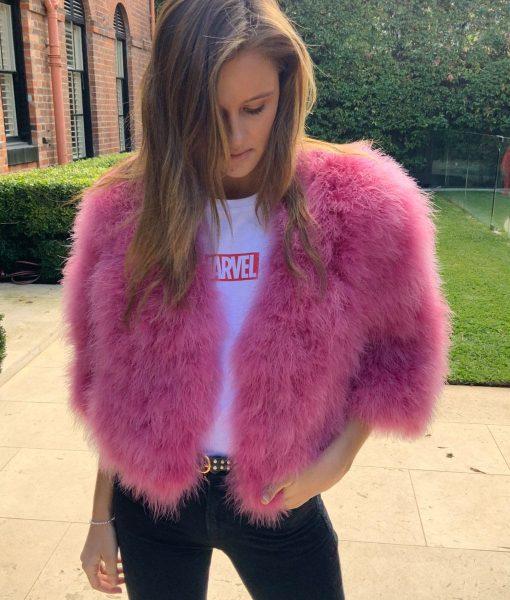 Turkey feather jacket