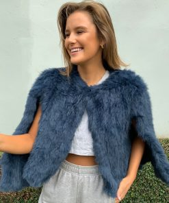 Fur Cape navy