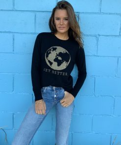 black jetsetter sweater