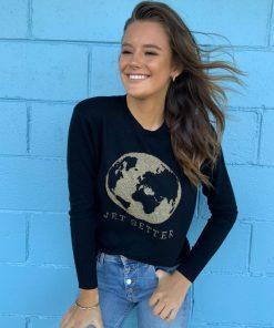 black jetsetter sweater