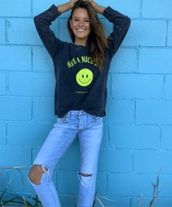 Charcoal smiley face sweater