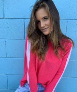 fluro pink cashmere sweater