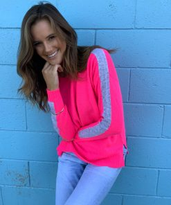 fluro pink cashmere sweater