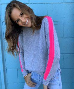 cashmere sweater grey marle