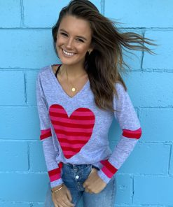 merino heart sweater