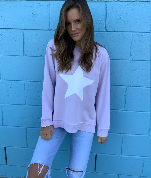 Lilac & White Star sweater