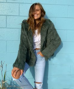 weekend fur jacket green