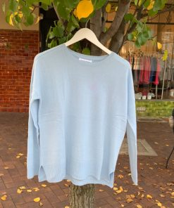 cashmere sweater baby blue
