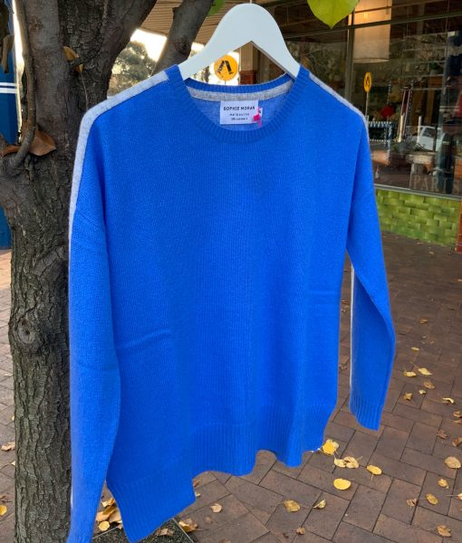 cashmere sweater cobalt blue