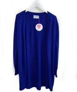 electric blue cardigan
