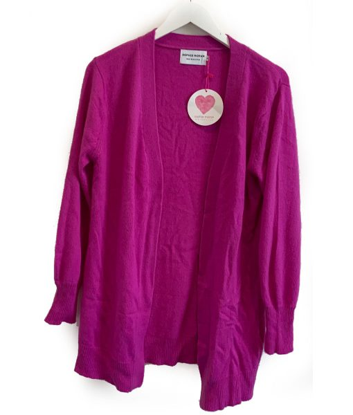 weekend cardigan purple
