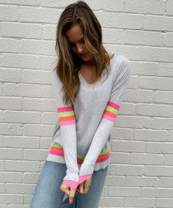 grey sweater rainbow