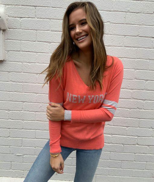 new york sweater guava