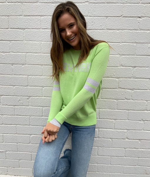 new york sweater lime green