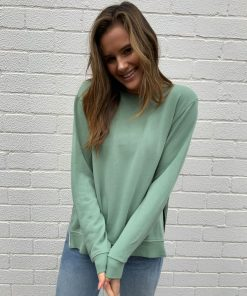 plain khaki sweater