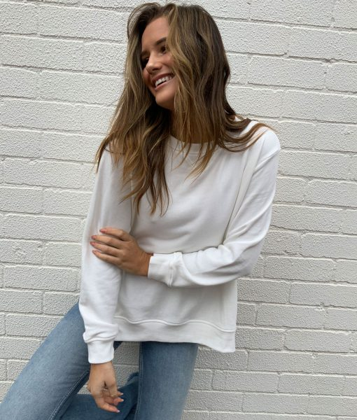 plain white sweater