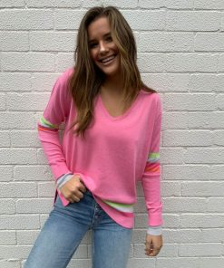 pink sweater rainbow