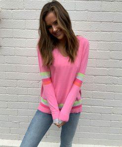pink sweater rainbow