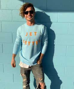 Mens Sweater jetsetter blue