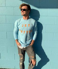 Mens Sweater jetsetter blue