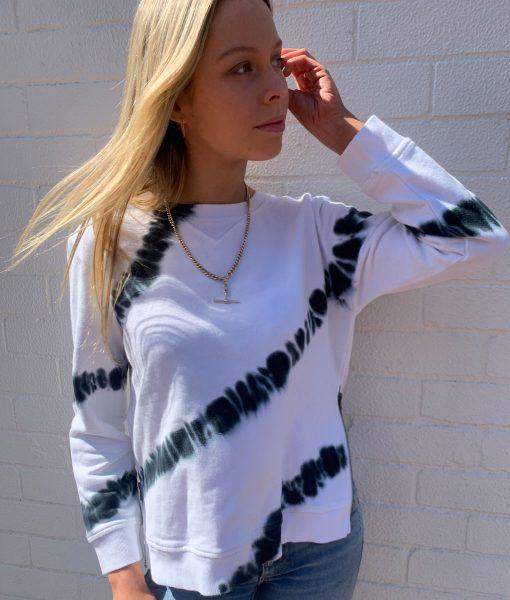 White Tye Dye sweater