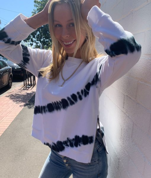 White Tye Dye sweater