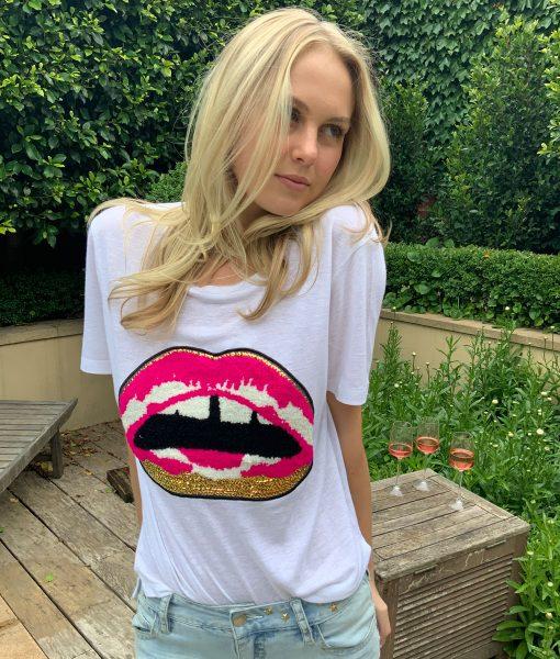 fluffy lips tee shirt
