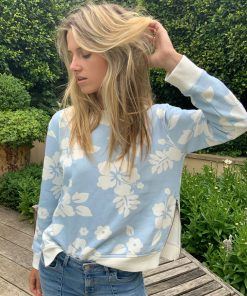long sleeve hibiscus sweater