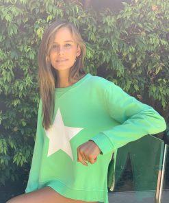 minty green sweater