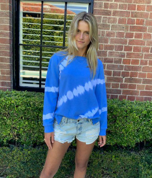 blue tye dye sweater