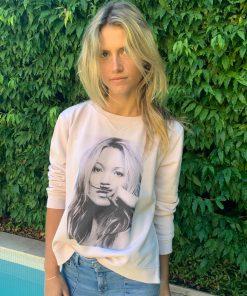 blush sweater photo print