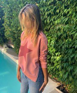 plum sweater plum star