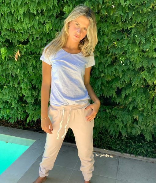 relaxed blush pink trackpants