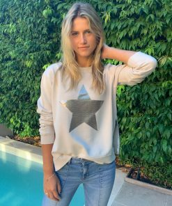 sliver sequin star sweater