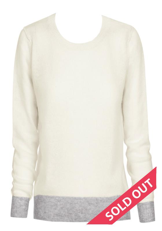 cream crew neck sweater